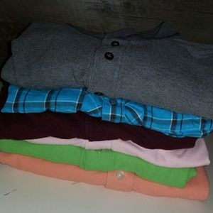 Lot of 9 mens shirts sz xl tommy,izod,structure